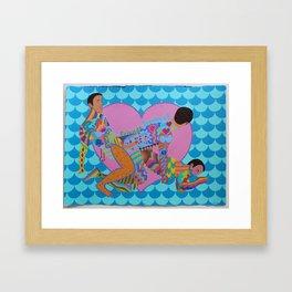 Friends Forever! Framed Art Print