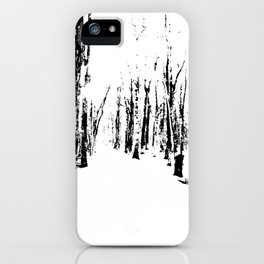 Trees in the Snow (B&W) iPhone Case