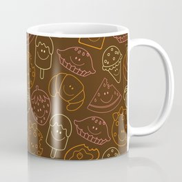 Food Dark Background Coffee Mug