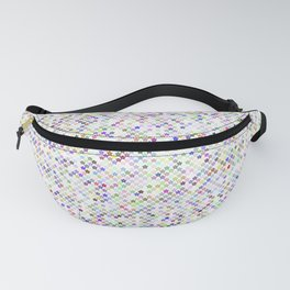 Cyberflowers pixel dots on white background Fanny Pack