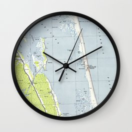 Vintage Northern Outer Banks Map (1940) Wall Clock