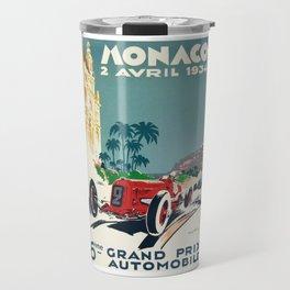 Grand Prix Monaco, 1934, vintage poster Travel Mug