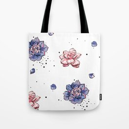 Succulents seamless pattern Tote Bag