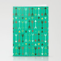 arrows Stationery Cards featuring Arrows by Claire Lordon