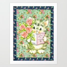 Hedgewitch cat handuct collage Art Print