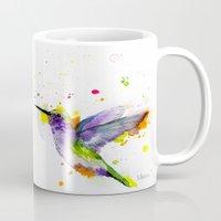 hummingbird Mugs featuring Hummingbird  by Slaveika Aladjova
