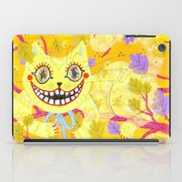 cheshire cat iPad Cases featuring Cheshire Cat by Janna Morton