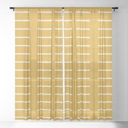 organic / yellow Sheer Curtain