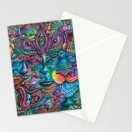 Reyes De La Jungla (Kings of the Jungle) By Tyler Aalbu Stationery Cards