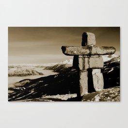 Whistler inukshuk Canvas Print