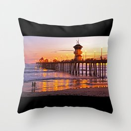 HB Sunset Picture Takers Throw Pillow