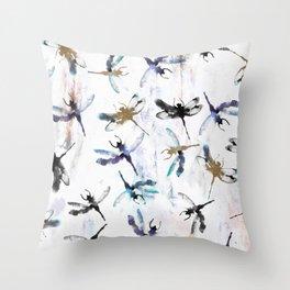 Dragonfly dreamer Throw Pillow