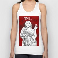 budapest hotel Tank Tops featuring Hotel by Fernando Monroy Robles