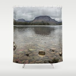 Two Medicine Lake - Glacier NP Shower Curtain