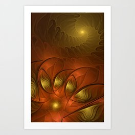 Fantasy in Copper and Gold Art Print