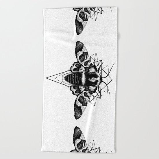 Geometric Moth Beach Towel