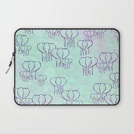 Pastel Elephants Laptop Sleeve