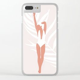 Summer Grace Clear iPhone Case