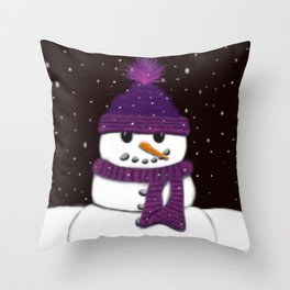 The Armless Snowman Throw Pillow