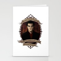 buffy the vampire slayer Stationery Cards featuring Angel - Angel/Buffy the Vampire Slayer by muin+staers