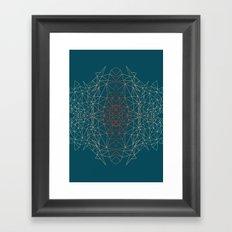 GeoGradientTurquoise Framed Art Print