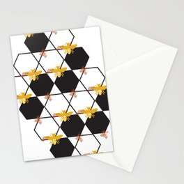 Bees Pattern Stationery Cards