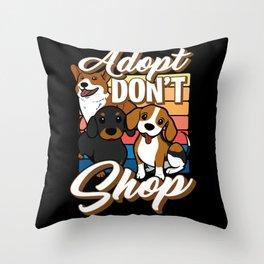 Dog shelter Adopt Throw Pillow
