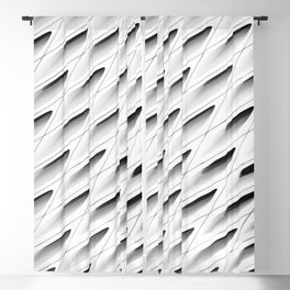 The Broad In the Afternoon Black & White Pattern Photography I Blackout Curtain