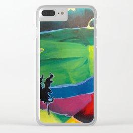 Alien Landscape Clear iPhone Case