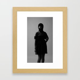 B with ski mask Framed Art Print