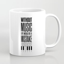 Lab No. 4 - Friedrich Nietzsche Quote life music typography poster Coffee Mug