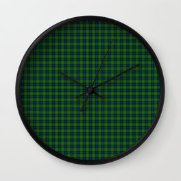 Muir Tartan Wall Clock