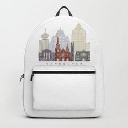 Vancouver skyline poster Backpack