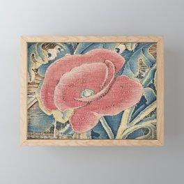Flower Tapestry Framed Mini Art Print