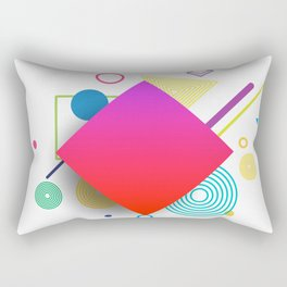 Displaced Geometry Rectangular Pillow