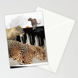 Minimal Leopards Stationery Cards