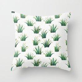 Field of Aloe Throw Pillow