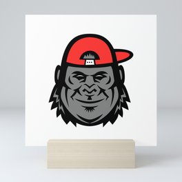 Gorilla Wearing Cap Mascot Mini Art Print