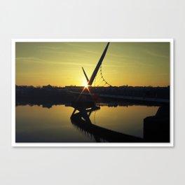 Peace Bridge, Derry.  Canvas Print
