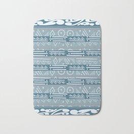 Polynesian Blue Beach Print Bath Mat