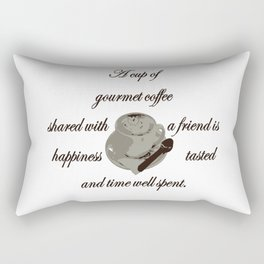 A Cup Of Gourmet Coffee Shared With A Friend Rectangular Pillow