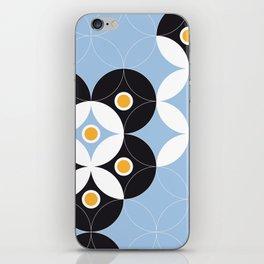 Blue White Black Greek Modern Mosaic iPhone Skin