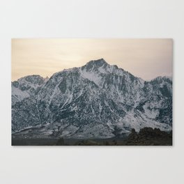 Mt. Whitney at Sunset Canvas Print