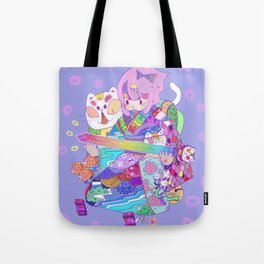 Rainbow sword -Nekoneko Tote Bag
