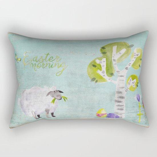 Easter Morning- Animal Sheep - for children Rectangular Pillow
