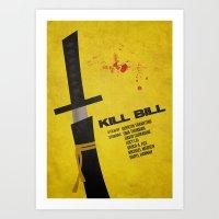 kill bill Art Prints featuring Kill Bill by rkbr