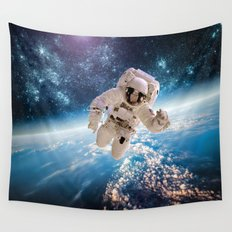 Space Diver Wall Tapestry