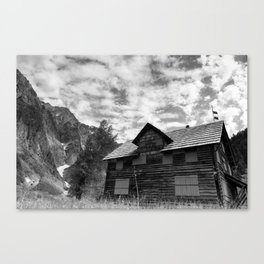 Enchanted Valley Chalet Canvas Print