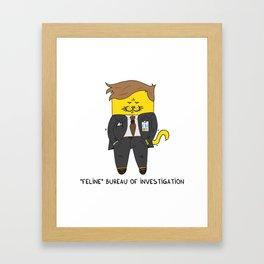 Feline Bureau Of Investigation Framed Art Print