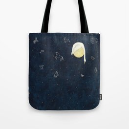 Sleeping on the Moon Tote Bag